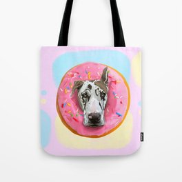 Great Dane Strawberry Donut Tote Bag