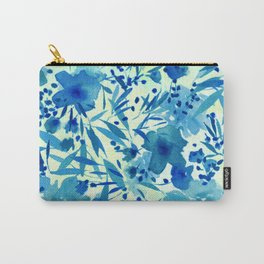 blue pretty flowers  https://society6.com/clemm?promo=X9B3VVZDM7J6 Carry-All Pouch