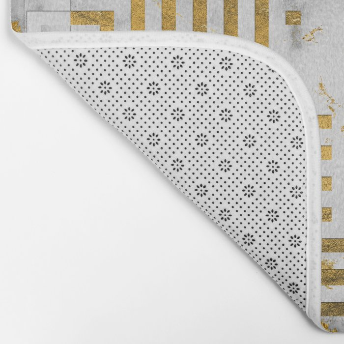 Marble and Gold Pattern #2 Bath Mat