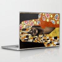 klimt Laptop & iPad Skins featuring Klimt Me by Estúdio Marte