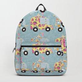 Ice Cream Truck Blue Backpack