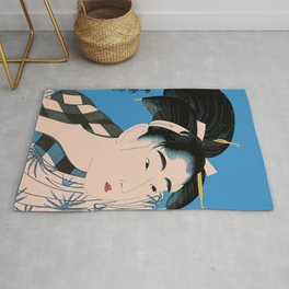 Utumaro #1 Blue Rug