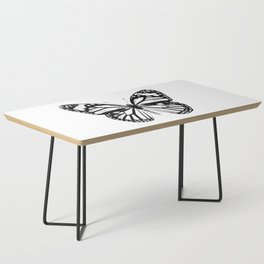 Monarch Butterfly | Black and White Coffee Table