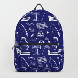 Gone Fishing // Midnight Blue Backpack