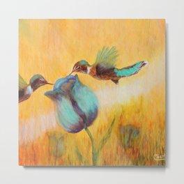 Beauty of life hummingbirds | Beauté de vie colibris Metal Print