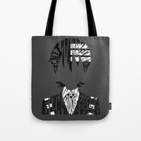 soul eater Tote Bags featuring death the kid soul eater by Rebecca McGoran