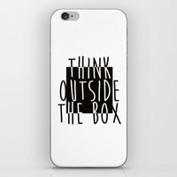 quote iPhone & iPod Skins featuring Quote by Motivational