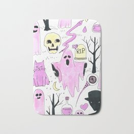 ghost aesthetic Bath Mat