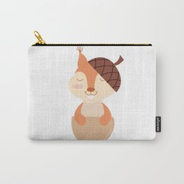 Little Squirrel Happy Autunm - Fall Begins Carry-All Pouch