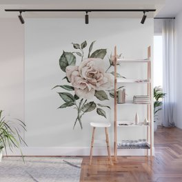 Faded Pink Rose Wall Mural