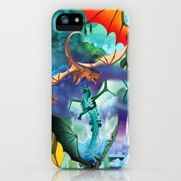 Wings of fire all dragon bg iPhone Case