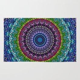 Magical Gems Kaleidoscope Rug