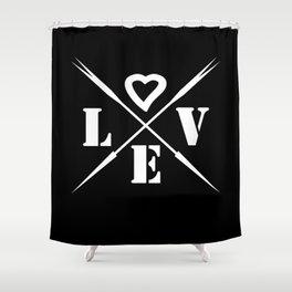 Valentine's day . Love .2 black Shower Curtain