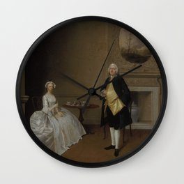 Arthur Devis - Mr. and Mrs. Hill (1751) Wall Clock