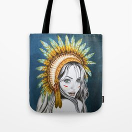 Red Indian Beauty Tote Bag