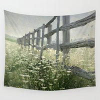 rustic Wall Tapestries featuring Rustic Fence by Pure Nature Photos