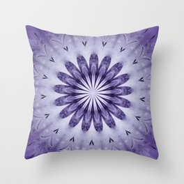 Bloomin' Purple Throw Pillow
