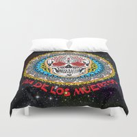 day of the dead Duvet Covers featuring Day of the Dead by Gary Grayson