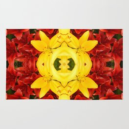 """""""A Gathering of Lilies"""" Remix - 1 (3-1) [D4465~12] Rug"""