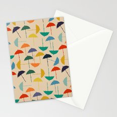 Sun umbrella Stationery Cards