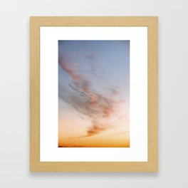 Ethereal Sunset – Cloudscape Framed Art Print