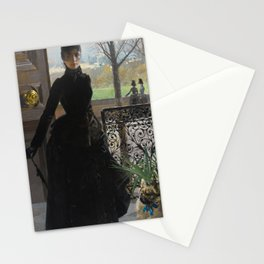 Vittorio Matteo Corcos - An elegant Lady Stationery Cards