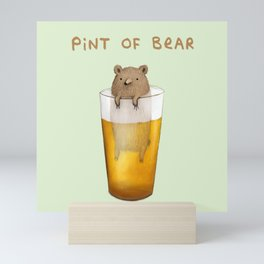 Pint of Bear Mini Art Print