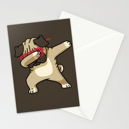 Dabbing Pug Stationery Cards