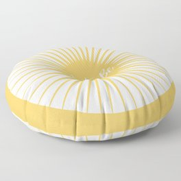 JUST BE YELLOW ENERGY Floor Pillow