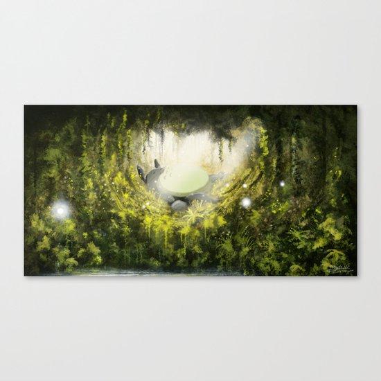 Totoro's Dream Canvas Print