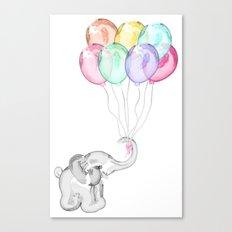 Party Elephant Canvas Print