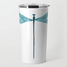 Dragonfly, watercolor Travel Mug