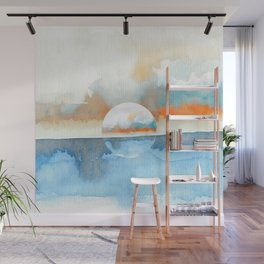Orange Sea Drop Wall Mural