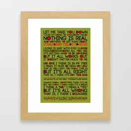 Strawberry Fields Forever Framed Art Print