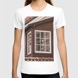 Skeleton and Pink Houses T-shirt