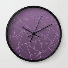 Ombre Ab Plum Wall Clock
