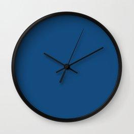 Classic Blue Plain Wall Clock