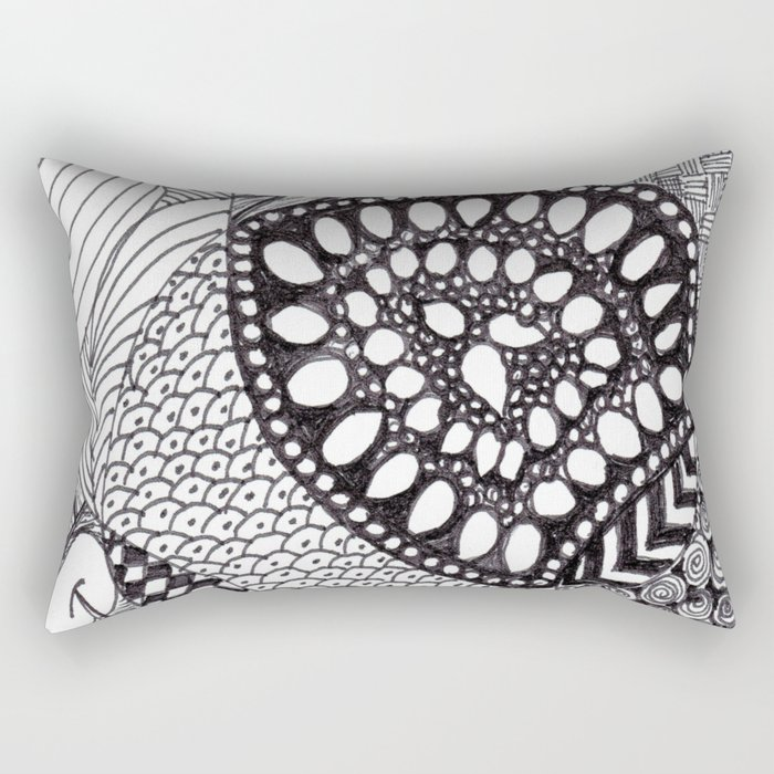 Zen Doodle Graphics zz04 Rectangular Pillow