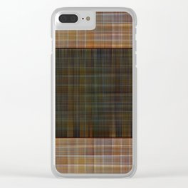 Patched plaid tiles pattern Clear iPhone Case