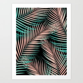 Palm Leaves - Cali Vibes #2 #tropical #decor #art #society6 Art Print