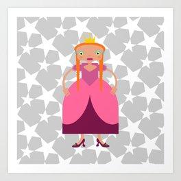 Beautiful Fairy Tale Princess Art Print