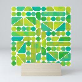 Tiny Tiles of Blue & Green Mini Art Print