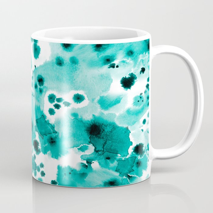 Marina Abstract Free Brushstroke Ink Spots Painting Watercolor Art Dorm Hipster College Beach Coffee Mug