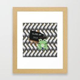 Graduations Diplomas Class of 2018 Frog Framed Art Print