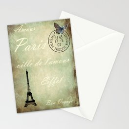 J'aime la France Stationery Cards