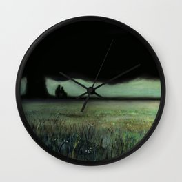 Lovers Tree (oil on canvas) Wall Clock