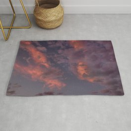 Last Days Of Summer. Clouds at Sunset Rug