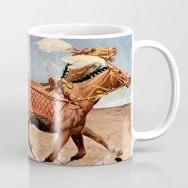 """Classical Masterpiece """"Egyptian King Tut on Chariot"""" by Herbert Herget Coffee Mug"""