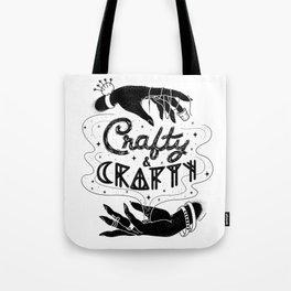 Crafty & Crafty - B&W Tote Bag