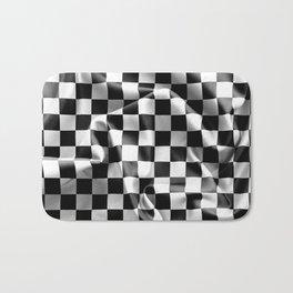 Chequered Flag Bath Mat